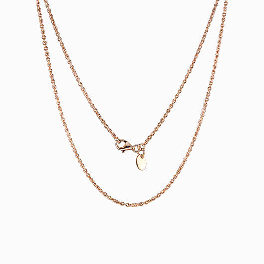 14k Rose Gold Vermeil Fine Cable Chain