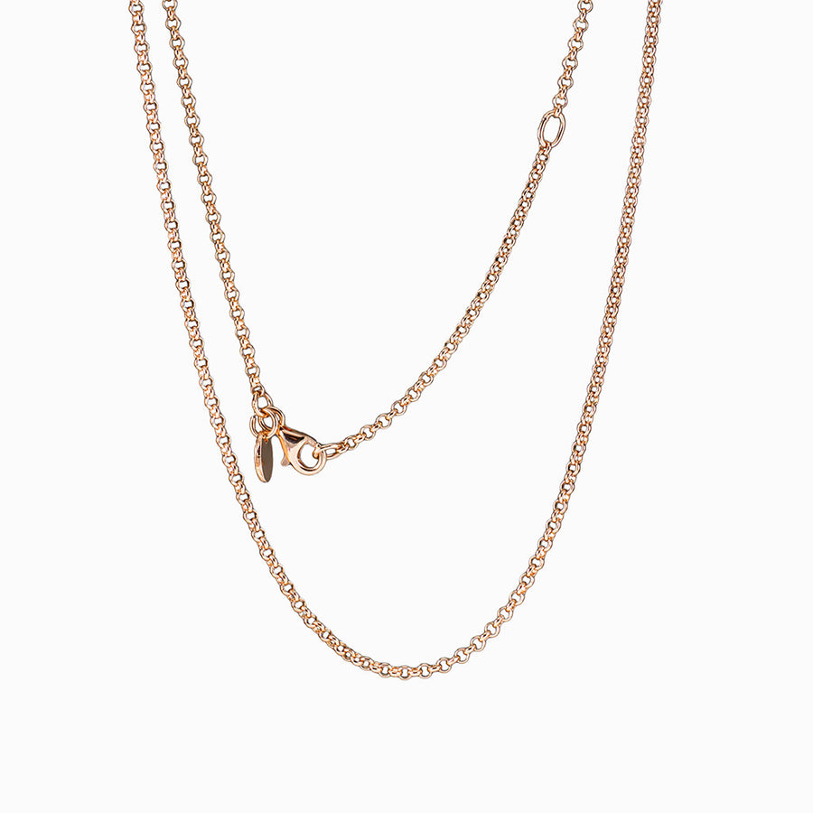 14k Rose Gold Vermeil Fine Rolo Chain