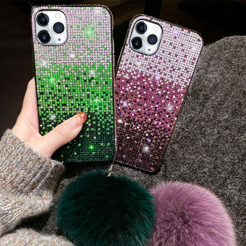 Zaza Gradient Rhinestone iPhone Case