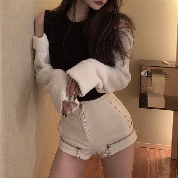 Fiona Two Toned Open Knit Sweater