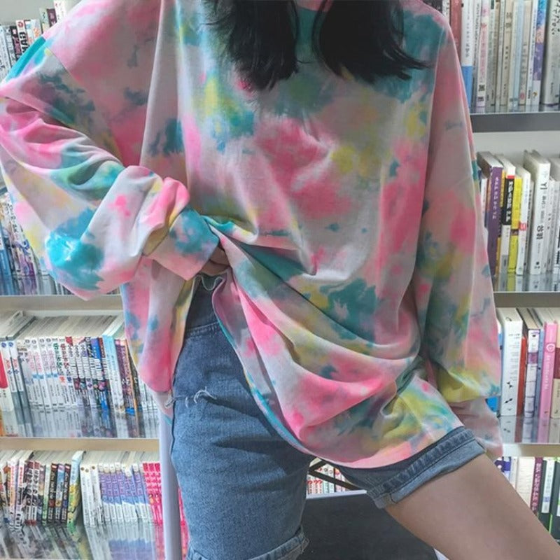 Felicia Tie Dye Loose Long Sleeve