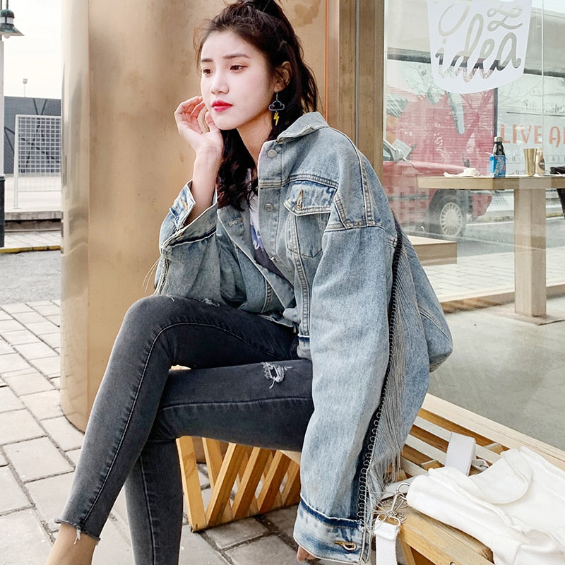 Thalia Denim Tassel Jacket