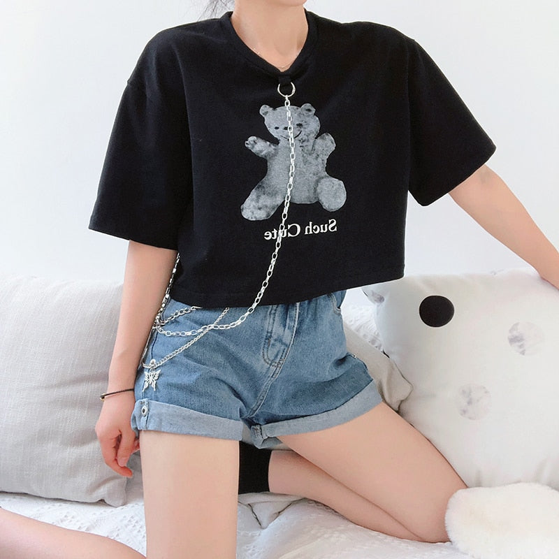 Such Cute Teddy Crop Shirt