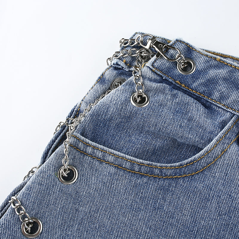 Veva Strappy Chain Denim Jeans