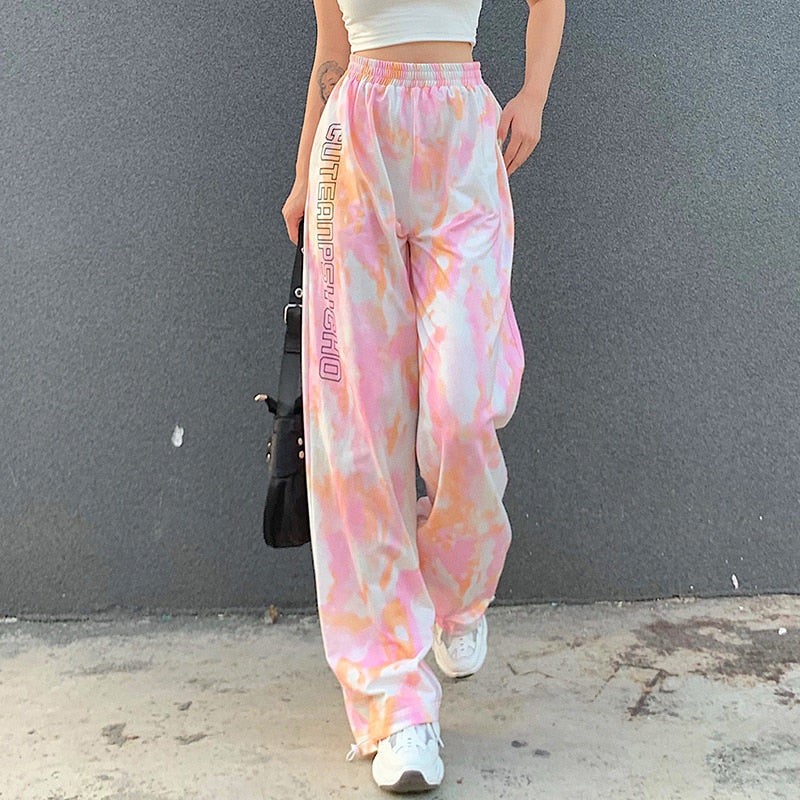 Cute And Psycho Tie Dye Joggers