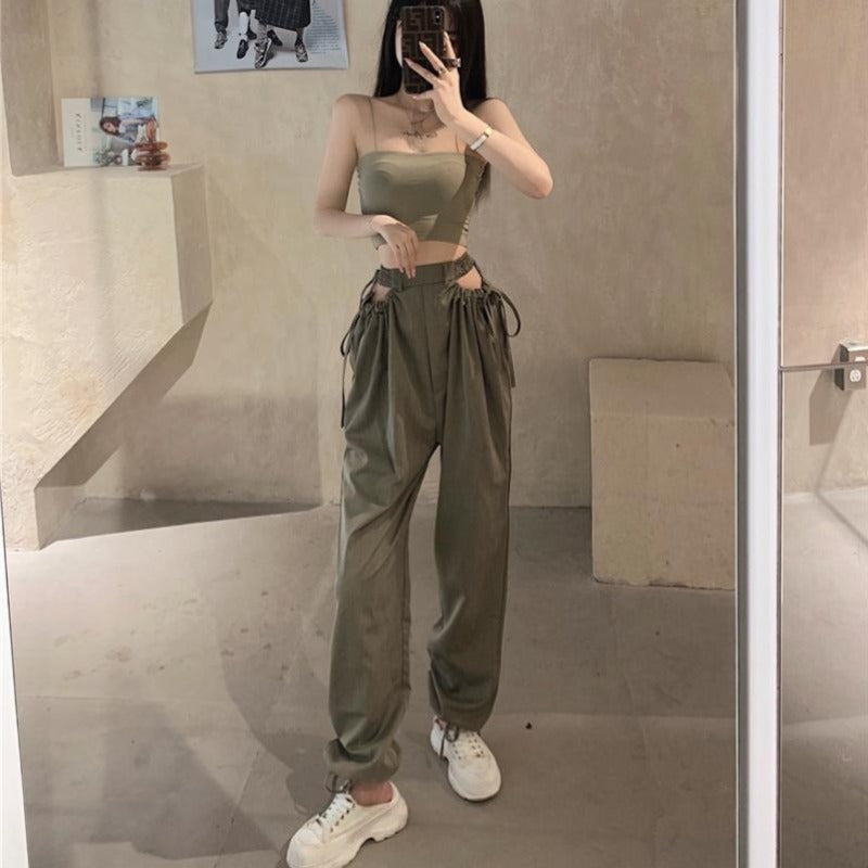 Barbara Cut Out Cargo Joggers