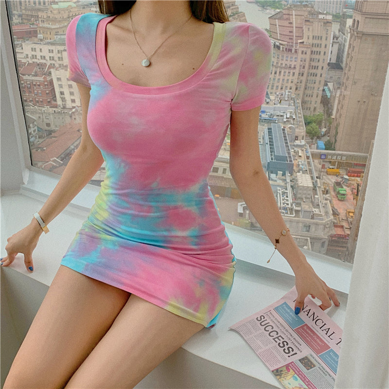 Nathalie Tie Dye Mini Dress