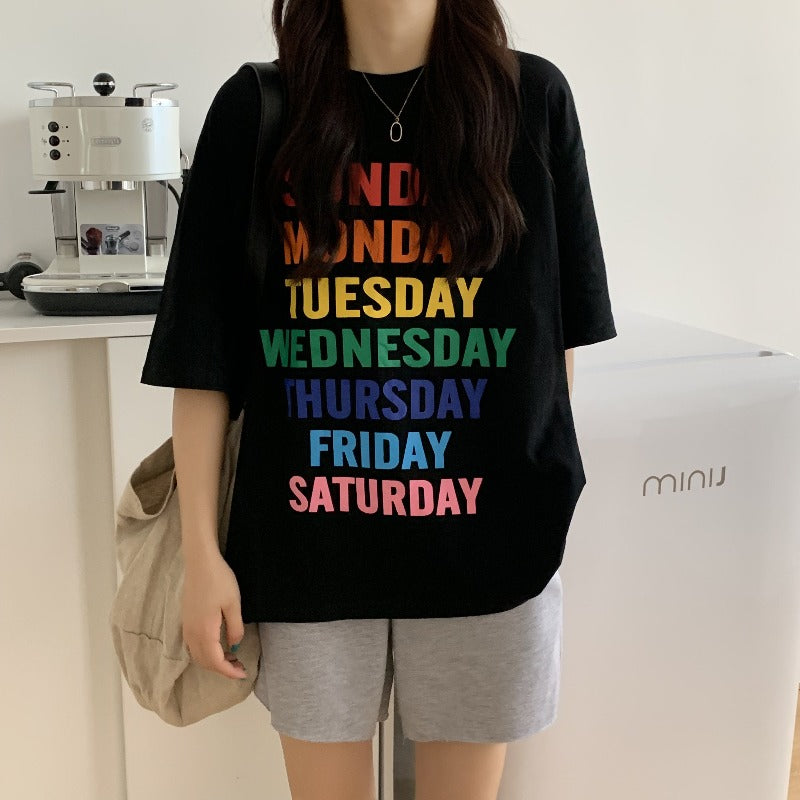Colorful Days Oversized T Shirt