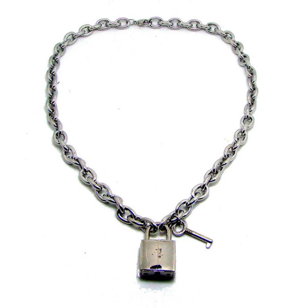 Lock & Key Chain Necklace