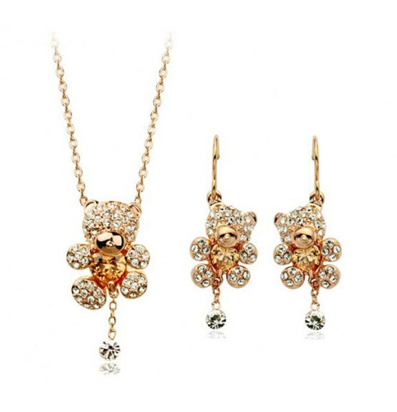 Teddy Crystal Jewelry Set