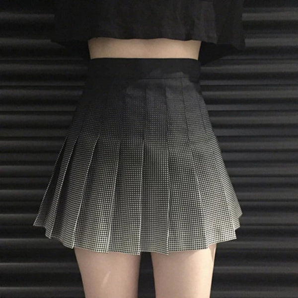 Brennan Ombre Pixel Dot Pleated Skirt