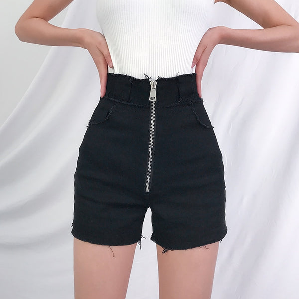 Jonas High Waisted Denim Shorts