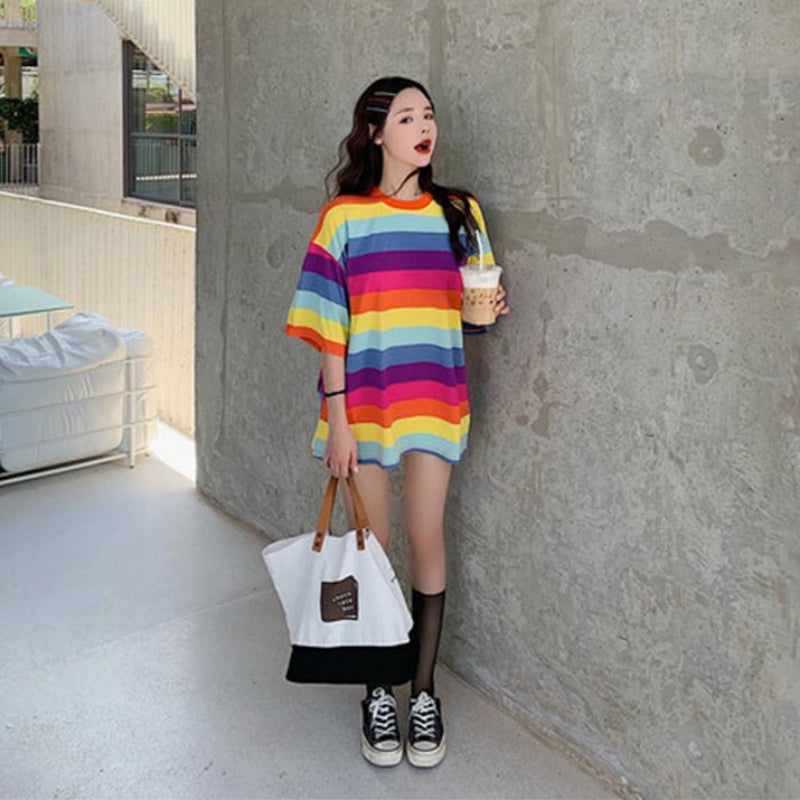 Connor Oversized Rainbow Tee