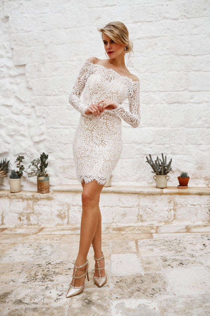 womens lace white cream dress luxury quality australian australia clothing
