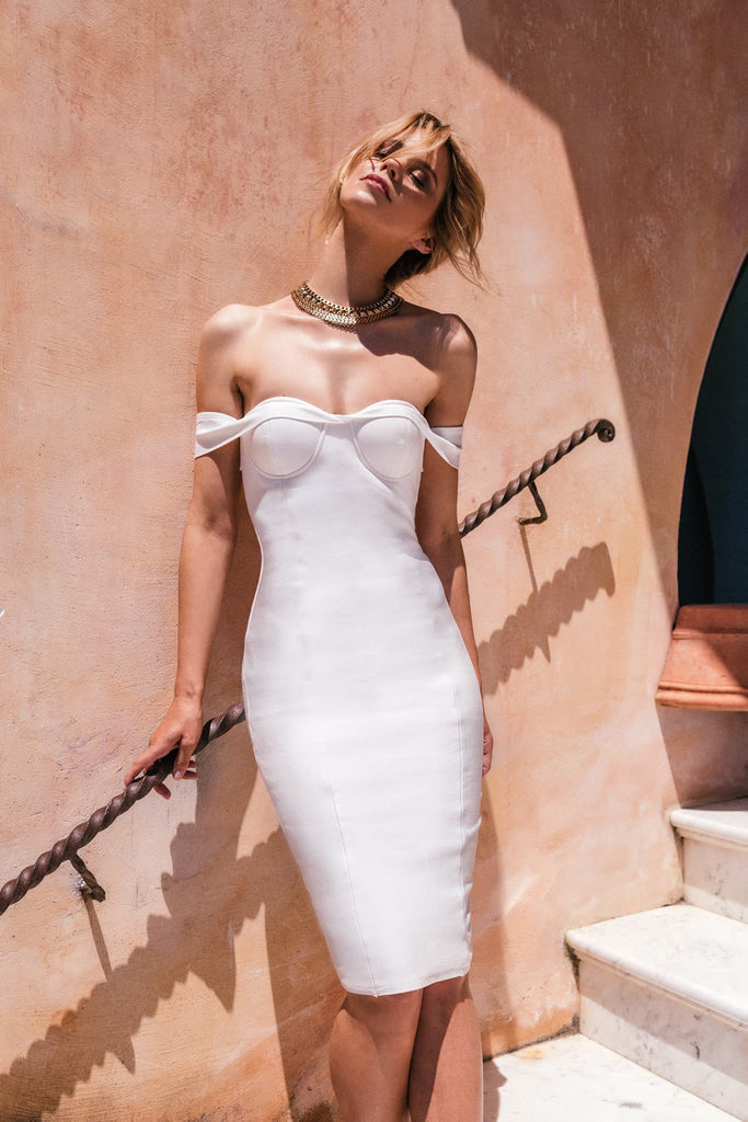 Francesca Dress | White