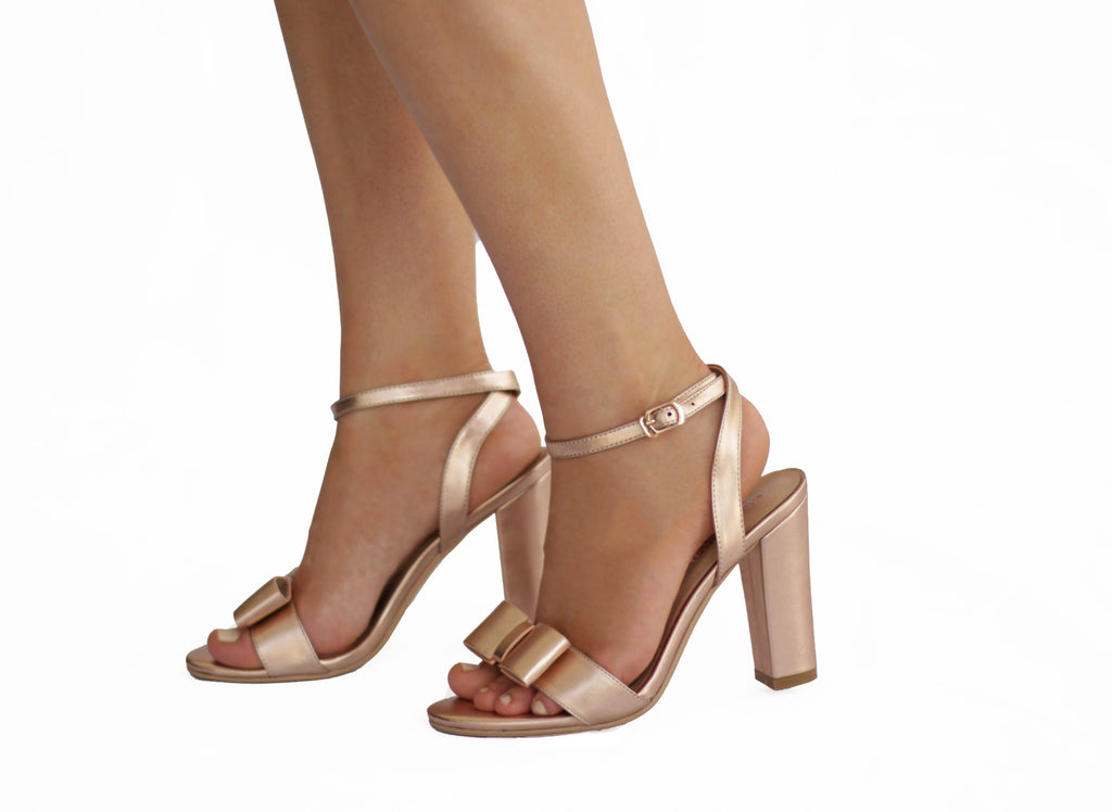 Bow: Rose Gold Heels