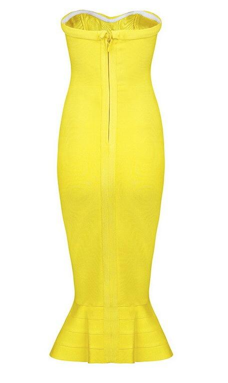 Cognac Dress | Yellow
