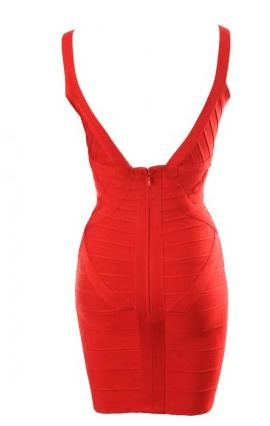 Sweet Red Bandage Dress