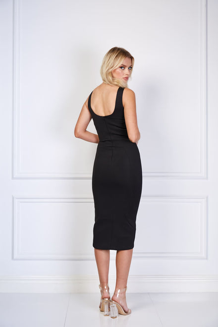 products/loreta_womens_black_sexy_V_neck_plunge_push_up_dress.jpg