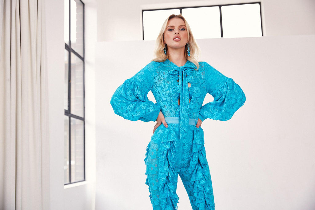 Turquoise Jumpsuit - PRE-ORDER