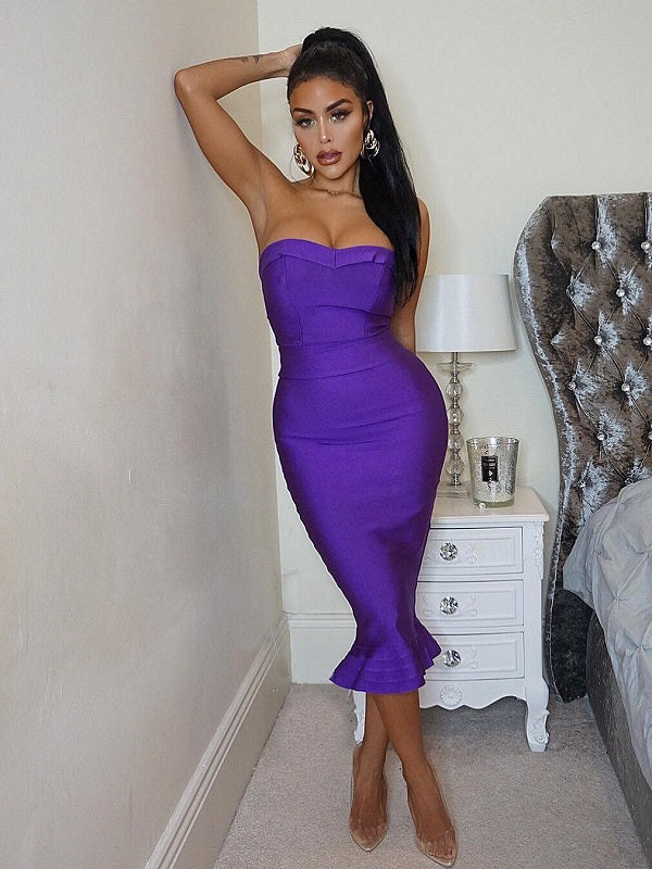 Cognac Dress | Vibrant Purple