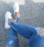 Women's White  Sneakers