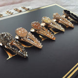 Crystal Marble Stone Hair Clip Set (6pcs)