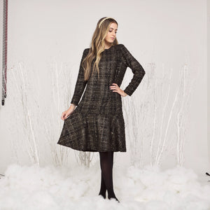 Teen Plaid Drop Waist Hannah Dress