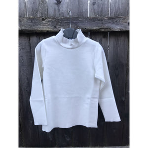 Girls Dressy Cream Turtleneck - Modest Necessities
