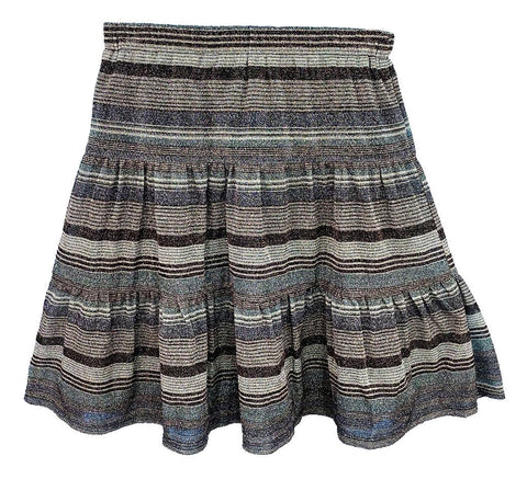 Girls Striped Sparkle Skirt