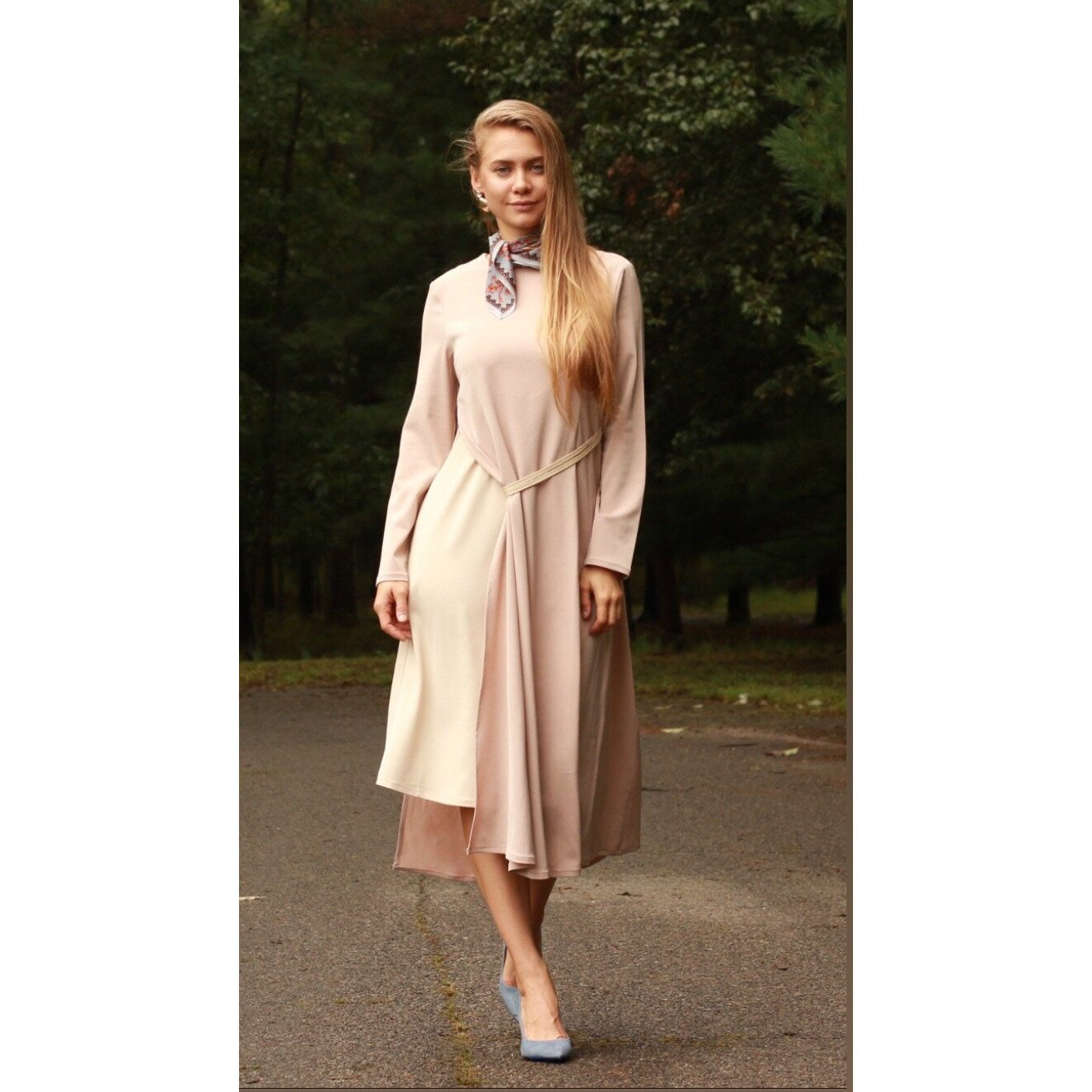 Ladies Pale Pink Dress 11390 - Modest Necessities