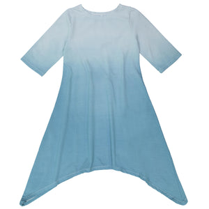Three Bows Dip Dye Asymmetric Dress (3 colors)