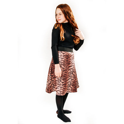 Tween/Teen Suede Flair Skirt (2 more prints)