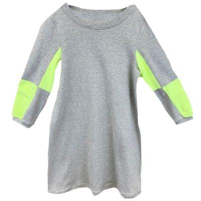 Girls Ribbed Dress with neon MB738 - Modest Necessities