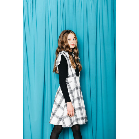 Girls Plaid Jumper M4822