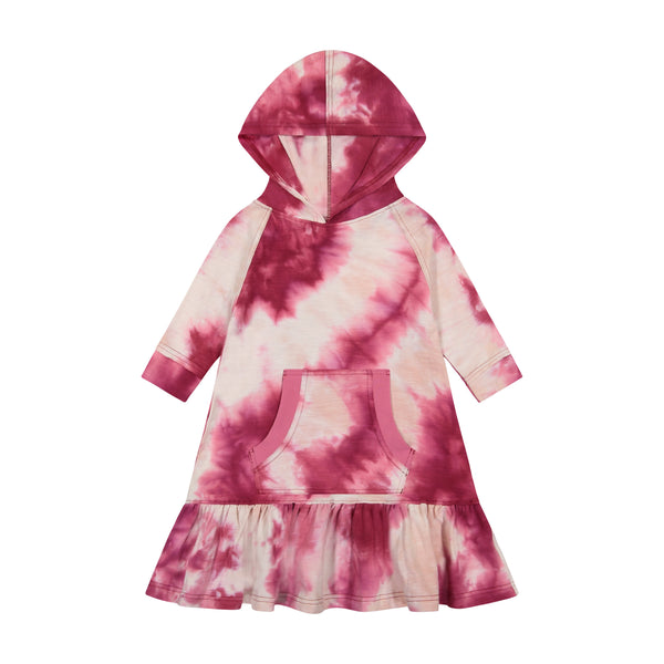 Teela Girls Tie Dye Hoodie Dress (3 colors)