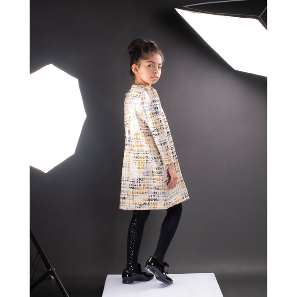 Tween Printed Herringbone Dress