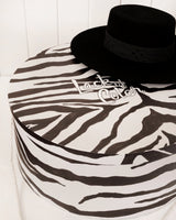 Hat Box - Large - Zebra Print