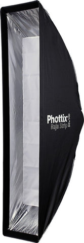 PHOTTIX Raja Strip Softbox w/Grid 30x140cm