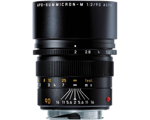 Leica APO-SUMMICRON-M 90mm f/2 ASPH. (Black Anodized finish)