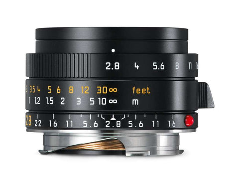 Leica ELMARIT-M 28mm f/2.8 ASPH. (Black Anodized finish)