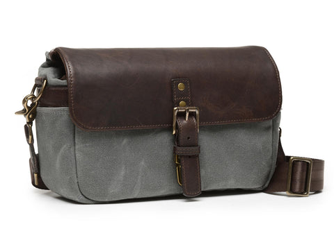 ONA Bowery Leather/Canvas /SMOKE/Dark Truffle