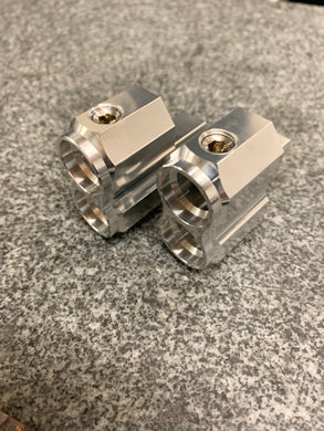 Aluminum Vertical Thin Dual 1/0 to 1/0 Offset Stub