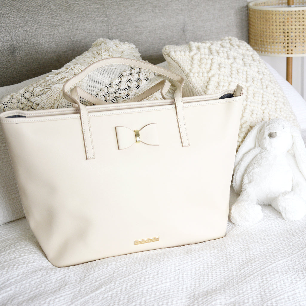 Leather Tote Nappy Bag