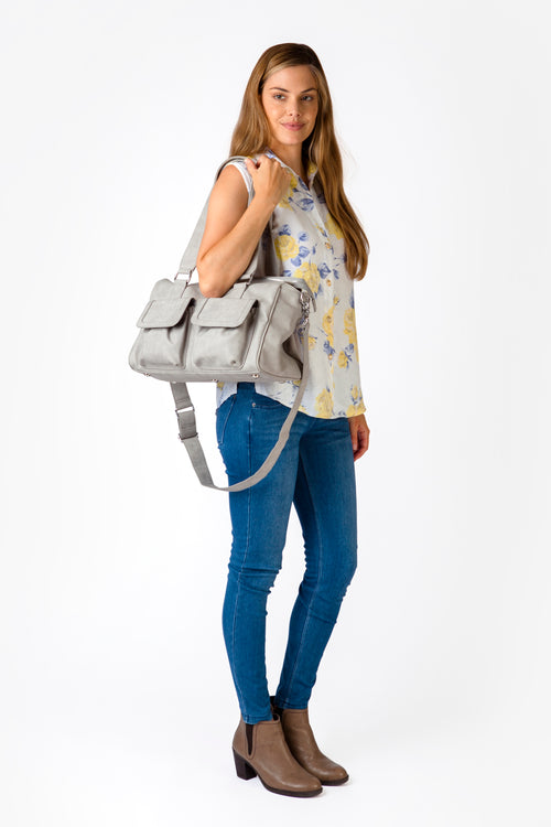 Denver Duffel Nappy Bag in Grey