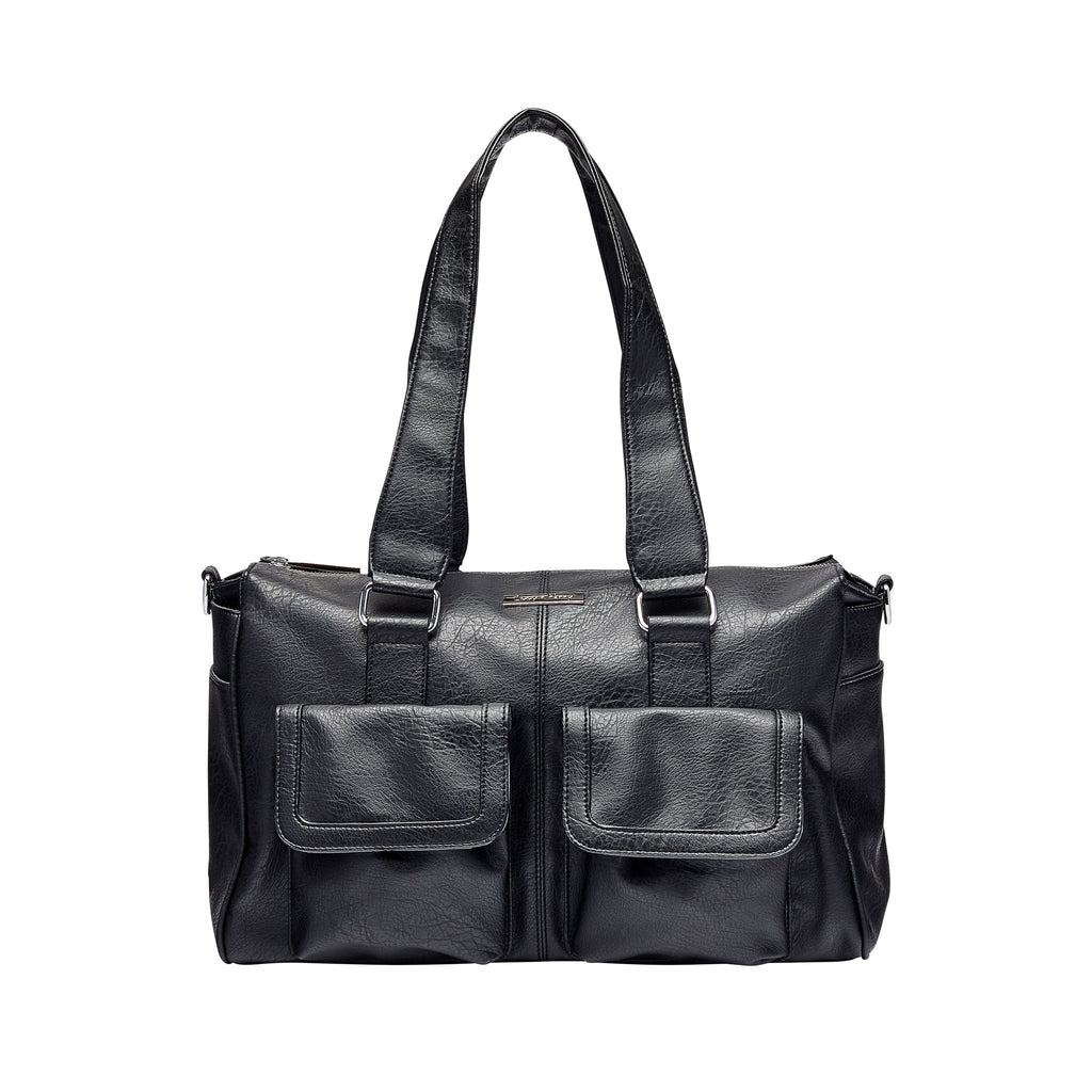 Denver Duffel Nappy Bag in Black | Livvy + Harry