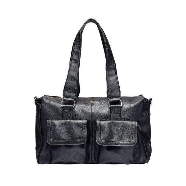 Keep It Organised Duffel Nappy Bag in Black | Livvy + Harry