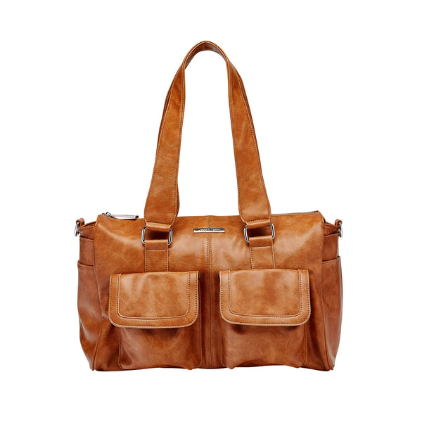Denver Duffel Nappy Bag in Tan | Livvy + Harry