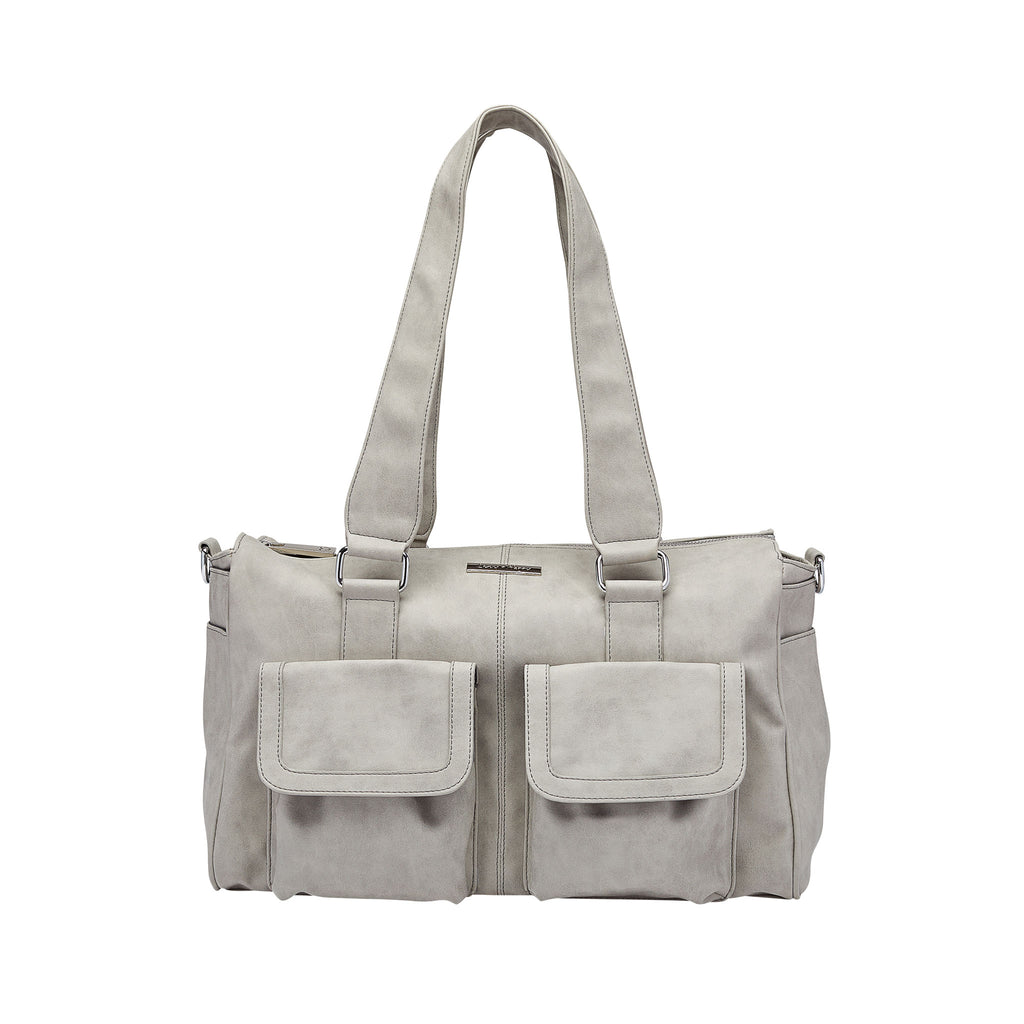 Denver Duffel Nappy Bag in Grey | Livvy + Harry