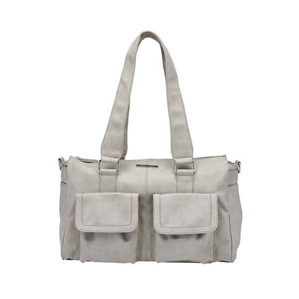 Keep It Organised Duffel Baby Nappy Bag Grey | Livvy + Harry